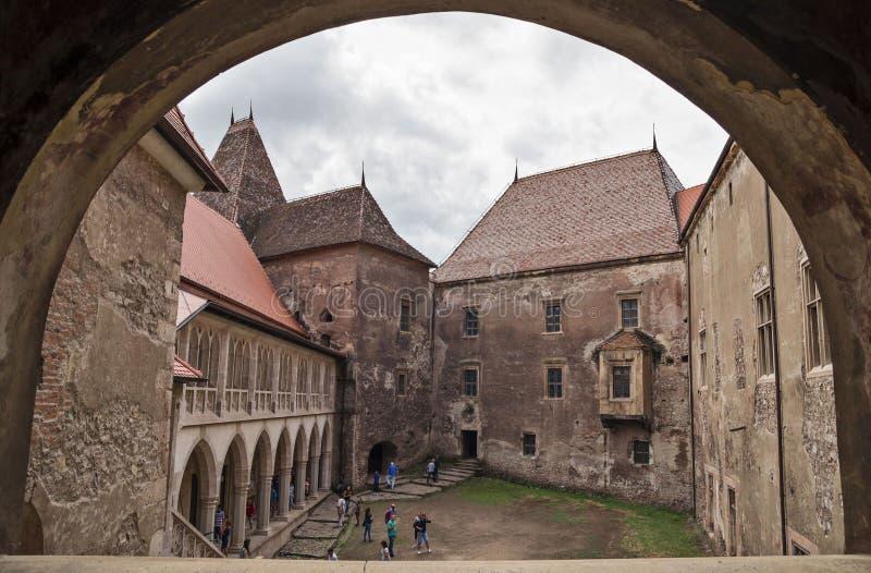 Corvin城堡在胡内多阿拉,罗马尼亚 库存照片