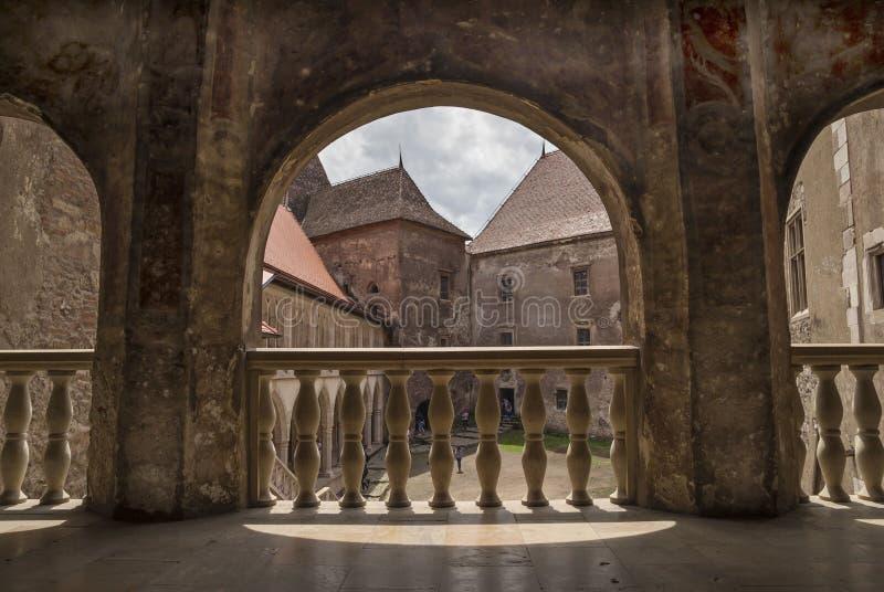 Corvin城堡在胡内多阿拉,罗马尼亚 免版税库存图片