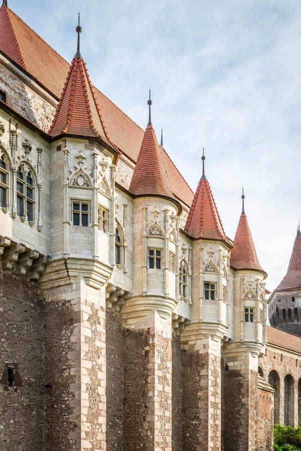 Corvin城堡,亦称Hunyadi城堡 免版税库存照片