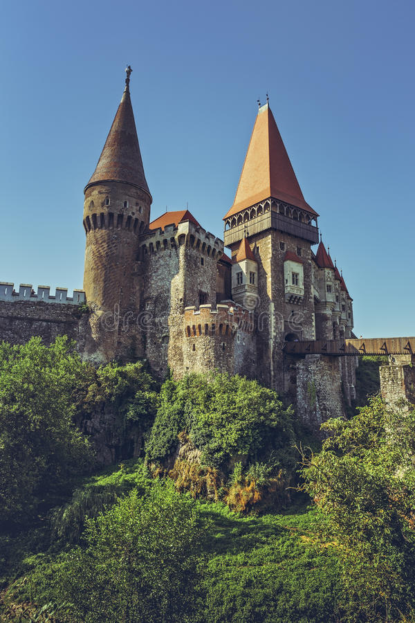 Corvin城堡,罗马尼亚 库存图片