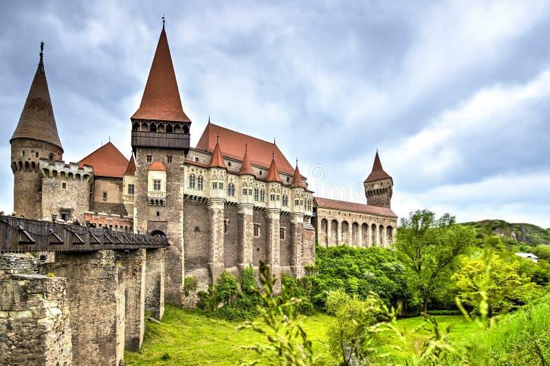 Corvin Castle, Hunedoara, Romania stock photos