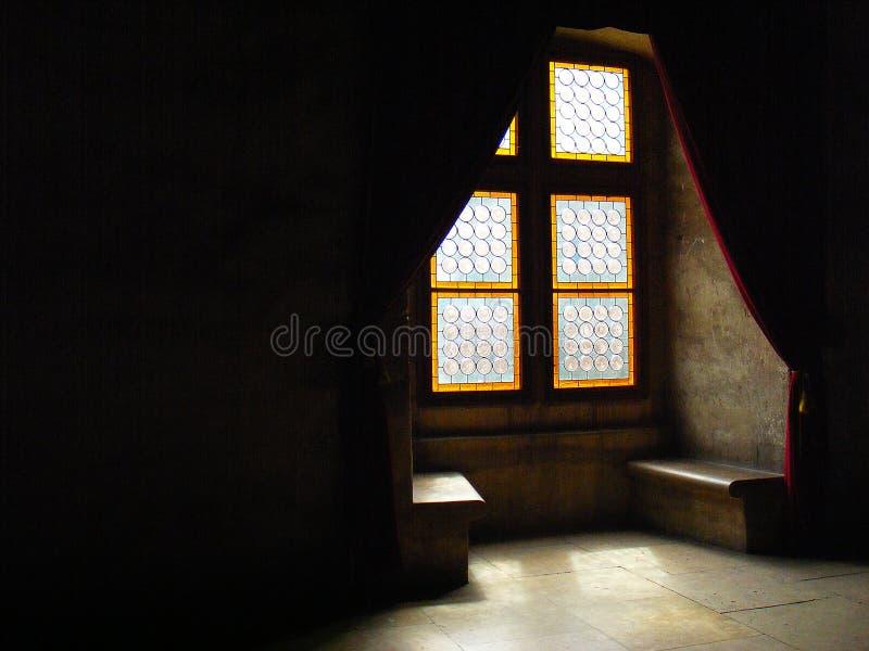 Corvin castle hunedoara transylvania huniazilor history gothic. Castle window. Corvin castle hunedoara transylvania huniazilor balcony romania gothic stock image