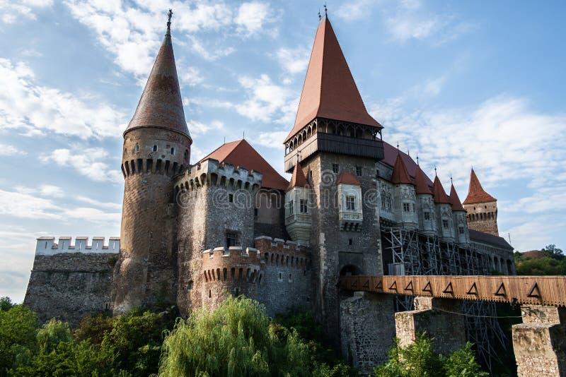 Corvin Hunyadi kasztel Hunedoara, Rumunia, - fotografia royalty free