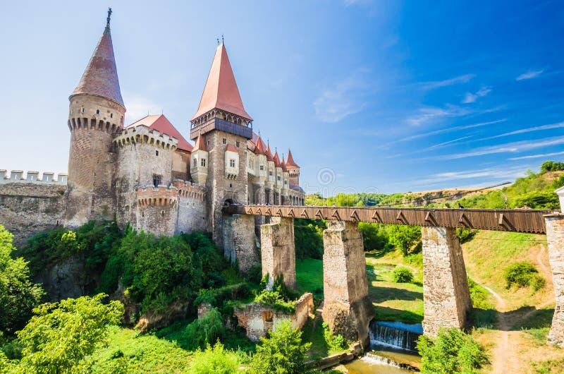 Corvin kasztel, Hunedoara, Transylvania, Rumunia obrazy royalty free