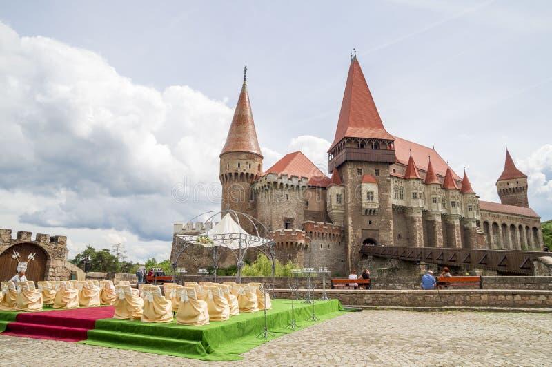 Corvin kasztel lub Hunyadi kasztel w Hunedoara, Rumunia fotografia royalty free