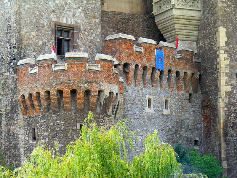 Corvin kasztelu hunedoara Transylvania huniazilor balkon obrazy stock