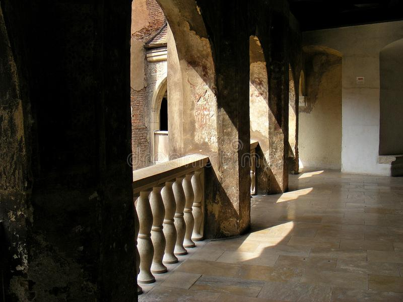 Corvin kasztelu hunedoara Transylvania huniazilor historia gothic obrazy stock
