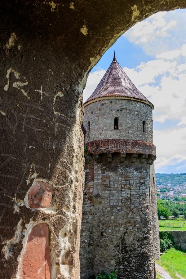 Corvin Roszuje, także zna jako Hunyadi kasztel w Hunedoara, Rumunia obraz royalty free