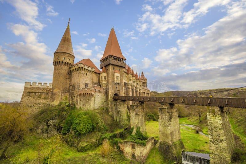 Corvin ` s Hunyadi城堡在胡内多阿拉,罗马尼亚 库存照片
