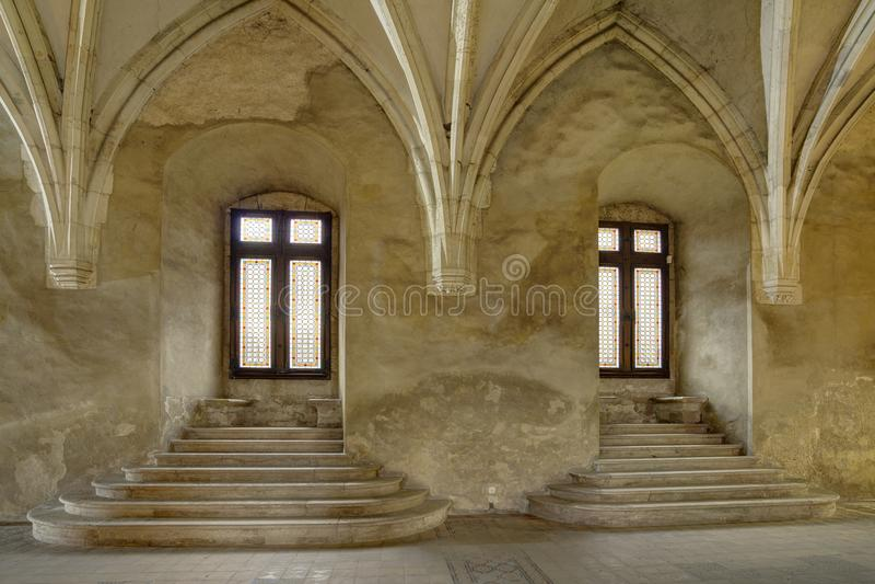 Corvin ` s Hunyadi Castle σε Hunedoara, Ρουμανία στοκ φωτογραφίες με δικαίωμα ελεύθερης χρήσης