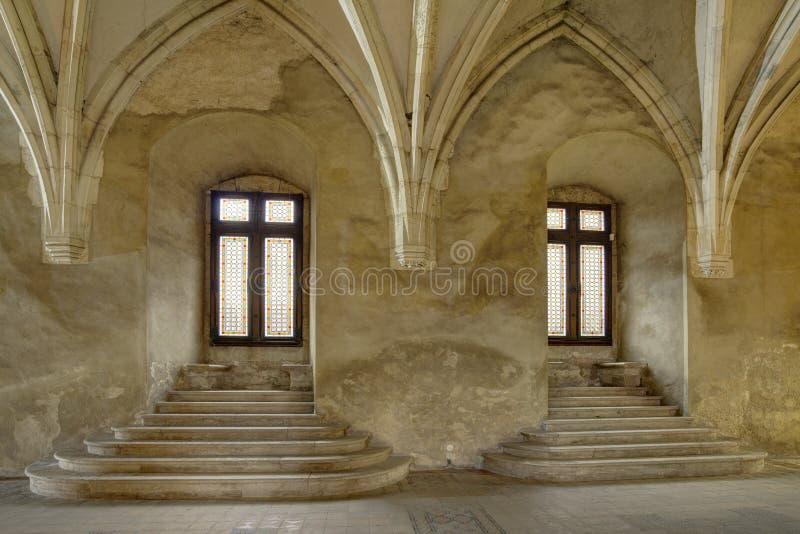 Corvin` s Hunyadi Kasteel in Hunedoara, Roemenië royalty-vrije stock foto's