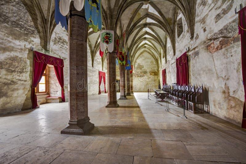 Corvin ` s Hunyadi kasztel w Hunedoara, Rumunia zdjęcie royalty free