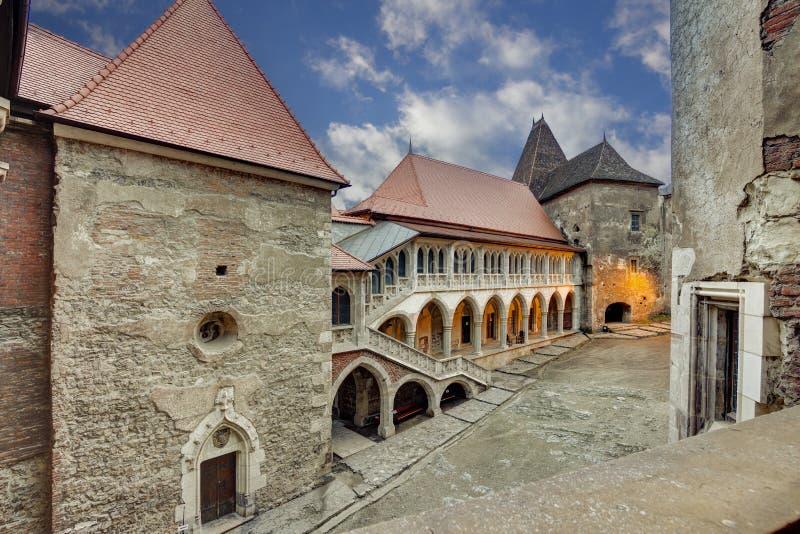 Corvin ` s Hunyadi kasztel w Hunedoara, Rumunia fotografia stock