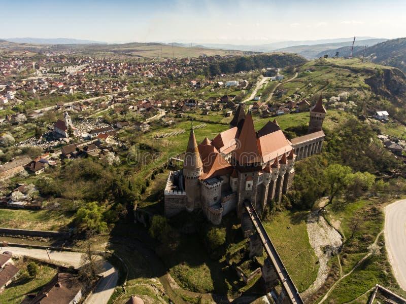 Corvin-Schloss von Hunedoara stockbilder