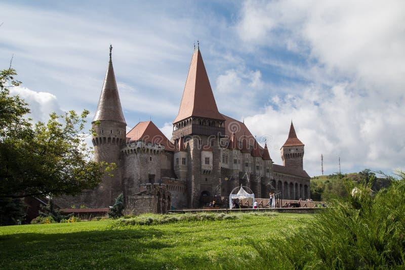 Corvin slott royaltyfri bild