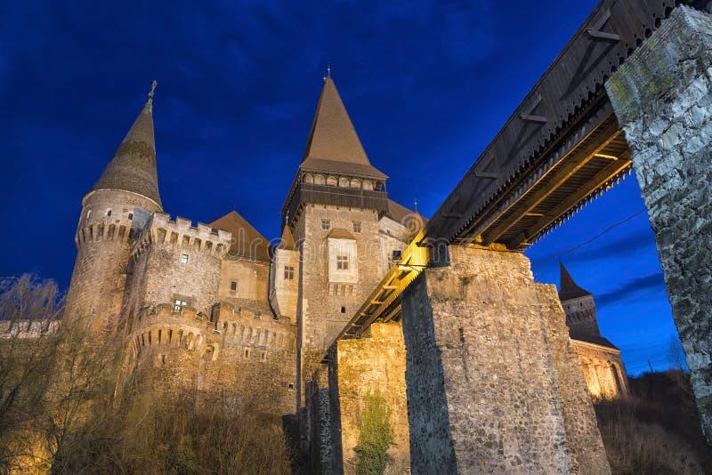 Corvin slott från Hunedoara, Rumänien royaltyfria foton