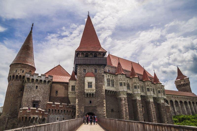Corvin slott i Hunedoara, Rumänien arkivbild