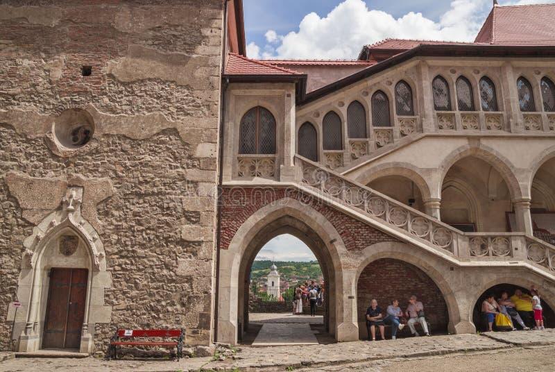 Corvin slott i Hunedoara, Rumänien royaltyfri foto