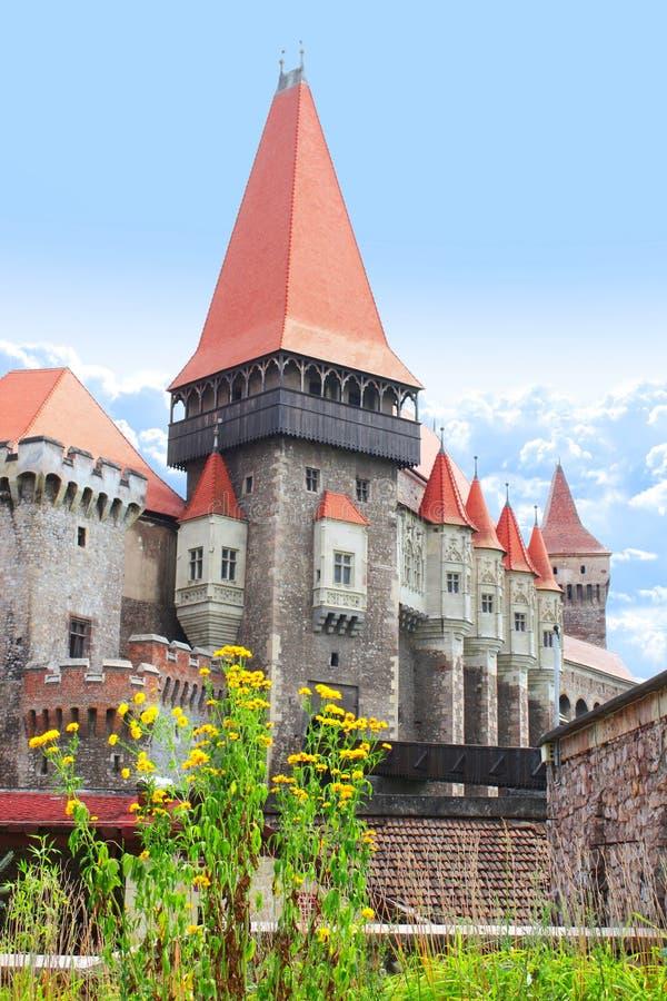 Corvinesti城堡,胡内多阿拉,特兰西瓦尼亚,罗马尼亚 图库摄影