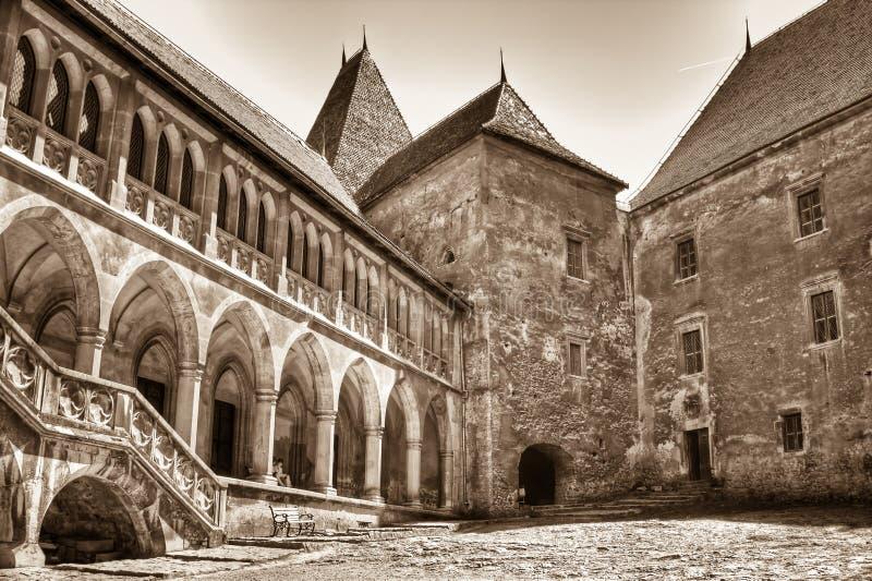 Corvinesti Castle stock photos