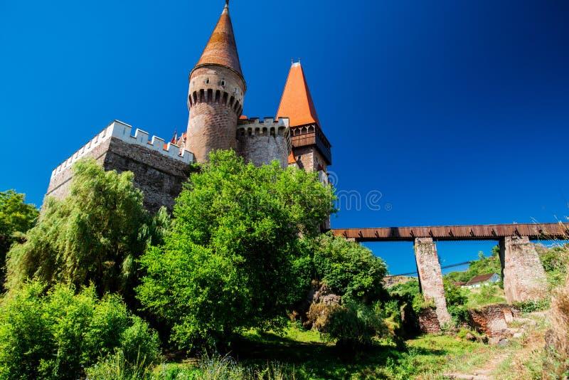 Corvinesti castle royalty free stock photography