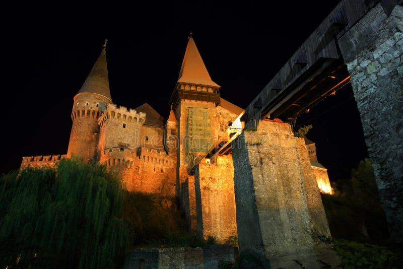 Corvinesti Schloss stockbilder