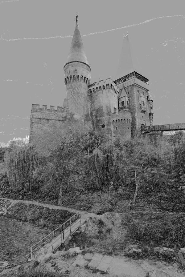 Corvinesti-schloss Kostenloses Stockbild