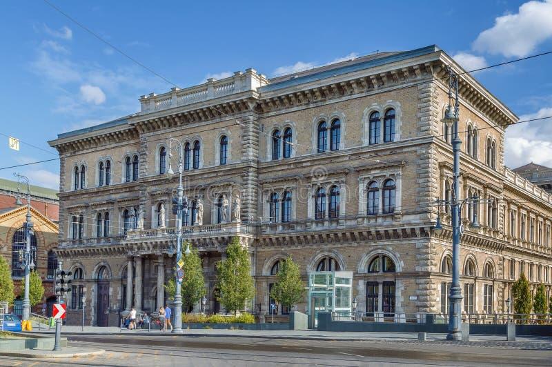 Corvinus University of Budapest, Hungary. Facade of the outbuilding of building of Corvinus University of Budapest, Hungary stock images