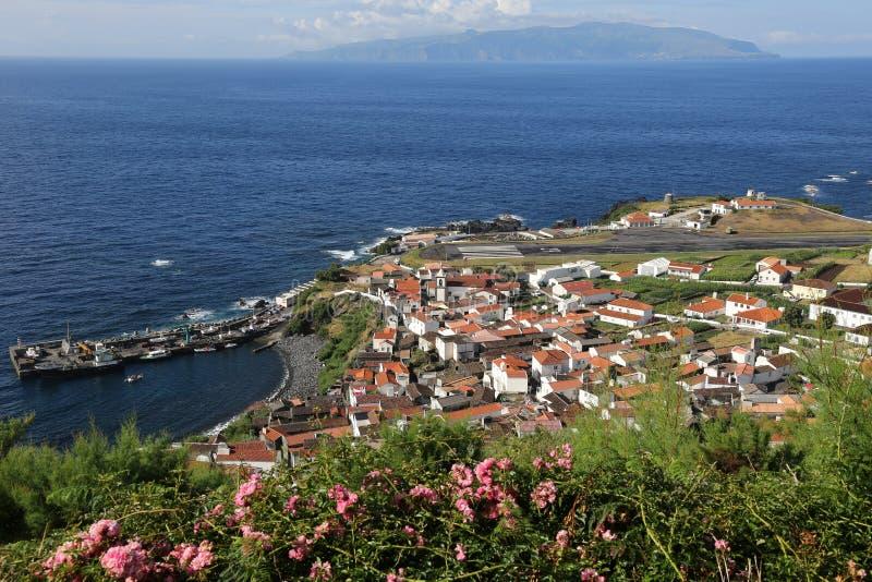 Corvo海岛在大西洋亚速尔群岛葡萄牙 免版税库存照片