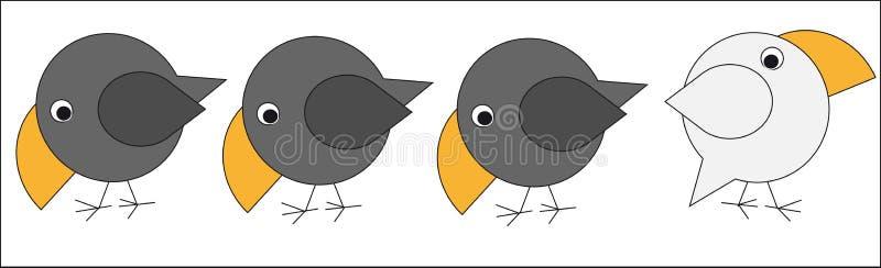 Corvo bianco illustrazione vettoriale