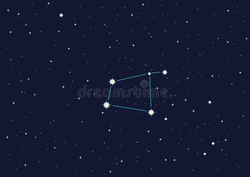 Download Corvo della costellazione illustrazione vettoriale. Illustrazione di notte - 7300101