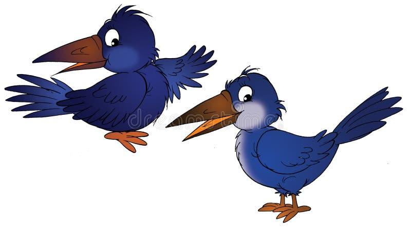 Corvo e corvo illustrazione vettoriale