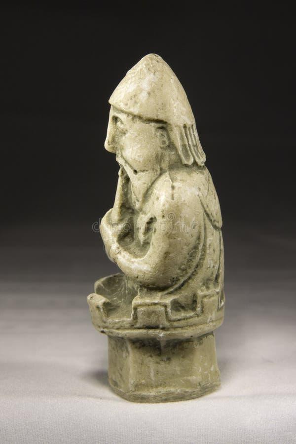 Corvo (pezzo degli scacchi antico) fotografia stock libera da diritti