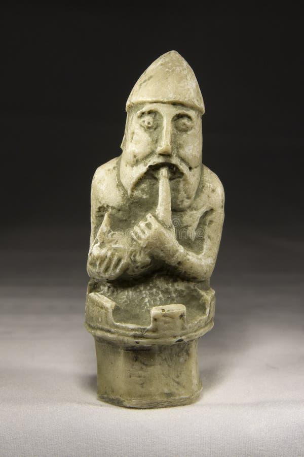 Corvo (pezzo degli scacchi antico) fotografie stock libere da diritti