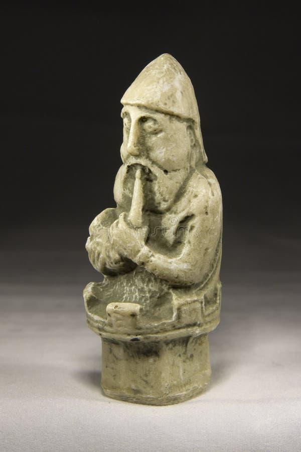 Corvo (pezzo degli scacchi antico) fotografia stock