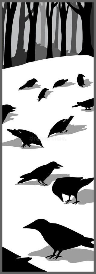Corvo preto ilustração do vetor