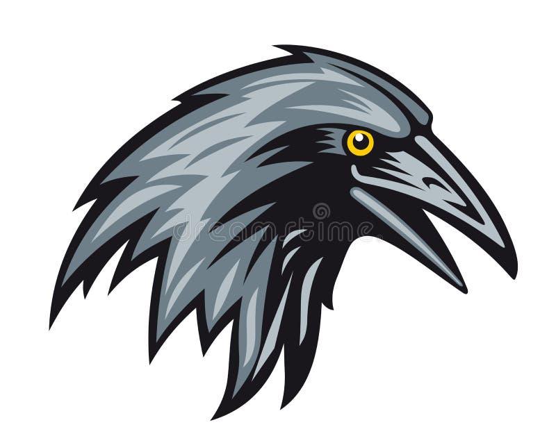 Corvo preto ilustração stock