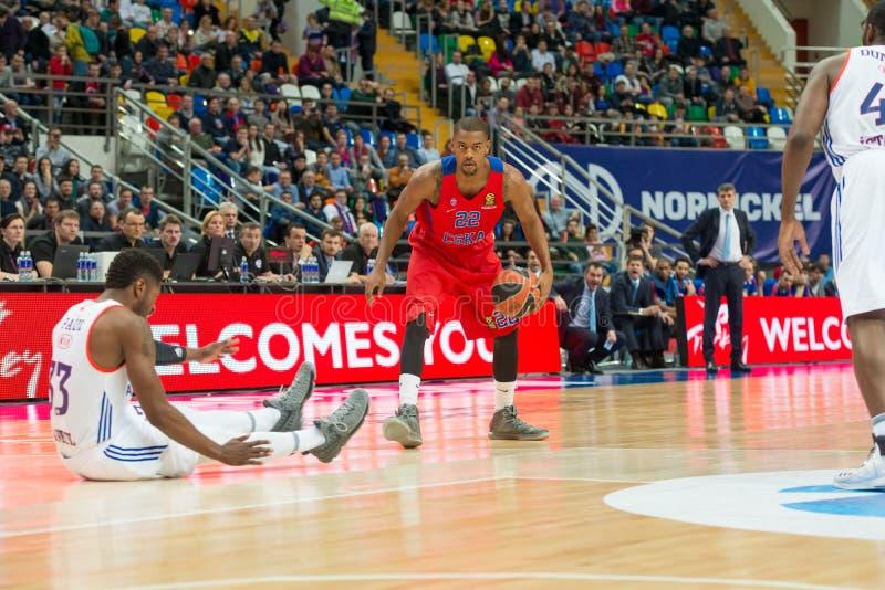 Cory Higgins 22 op het basketbalspel stock fotografie
