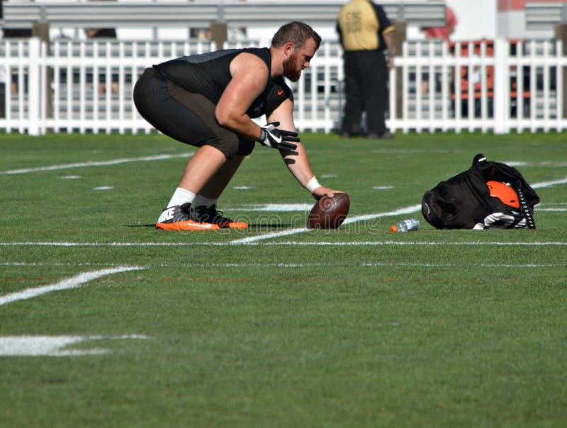 Cory Tucker Cleveland Browns Training Camp 2016 photographie stock libre de droits