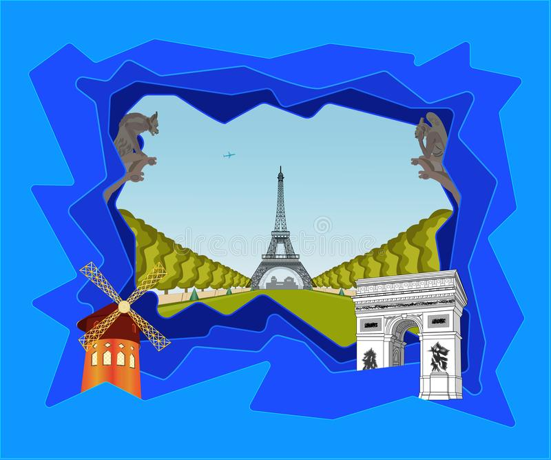 Così Parigi differente royalty illustrazione gratis