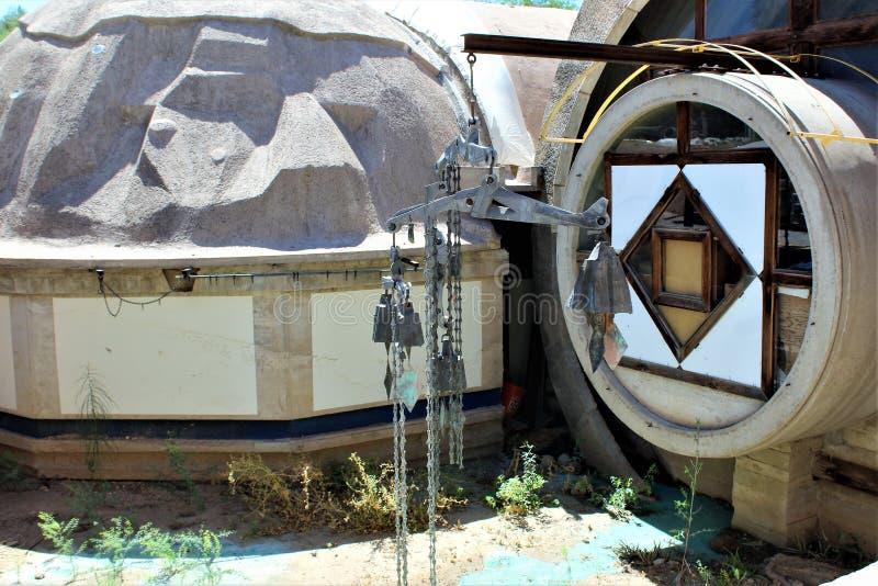 Cosanti保罗Soleri演播室,天堂谷斯科茨代尔亚利桑那,美国 免版税库存图片