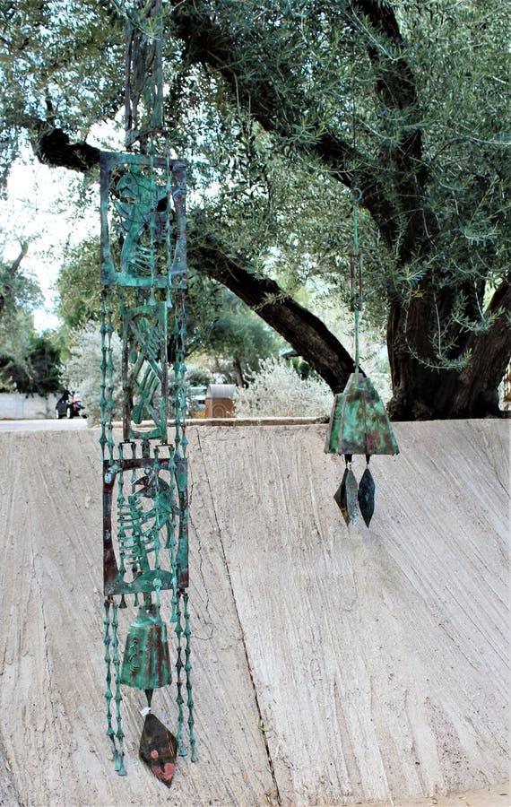 Cosanti Paolo Soleri Studios, Paradies-Tal Scottsdale Arizona, Vereinigte Staaten stockfoto