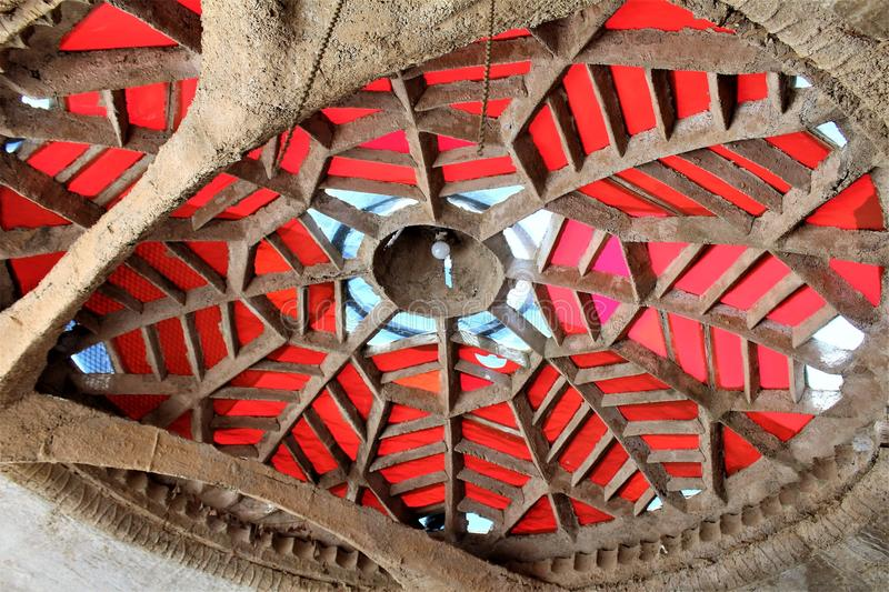 Cosanti Paolo Soleri Studios, Paradise Valley Scottsdale Arizona, United States. Building structure at a Cosanti, Paolo Soleri Studios located in Paradise Valley stock image