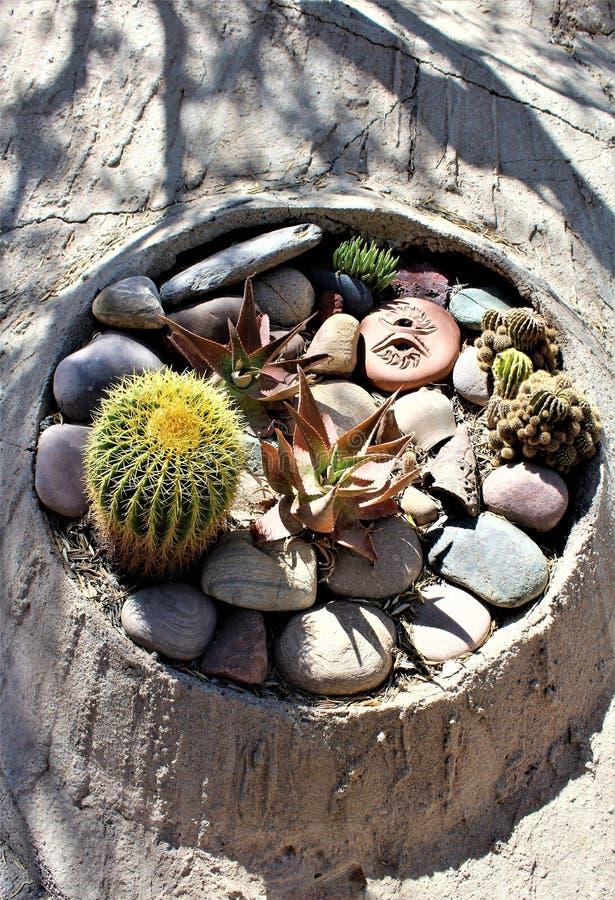 Cosanti Paolo Soleri Studios, vallée Scottsdale Arizona, Etats-Unis de paradis photographie stock