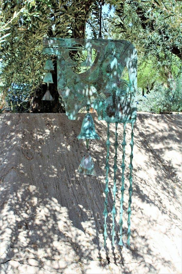 Cosanti Paolo Soleri Studios, vallée Scottsdale Arizona, Etats-Unis de paradis photos libres de droits