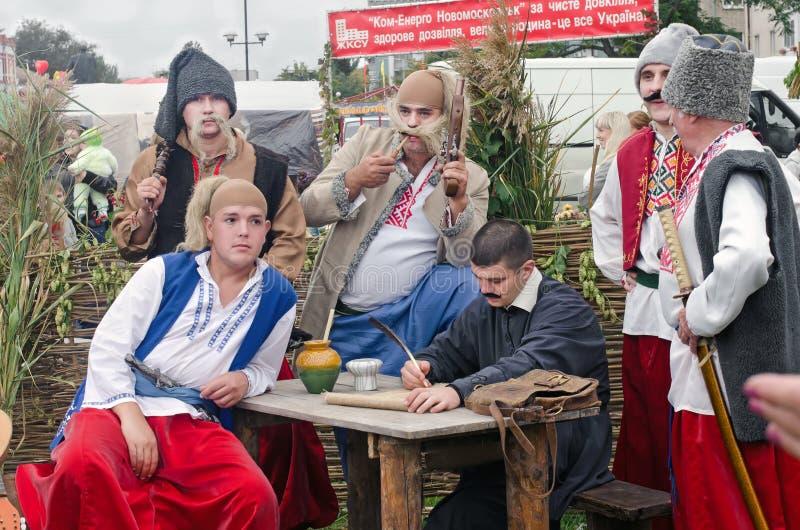 Cosaques de Zaporozhye écrivant une lettre au sultan turc l'ukraine photographie stock libre de droits