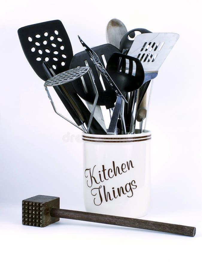 Cosas de la cocina con el ablandador foto de archivo libre de regalías