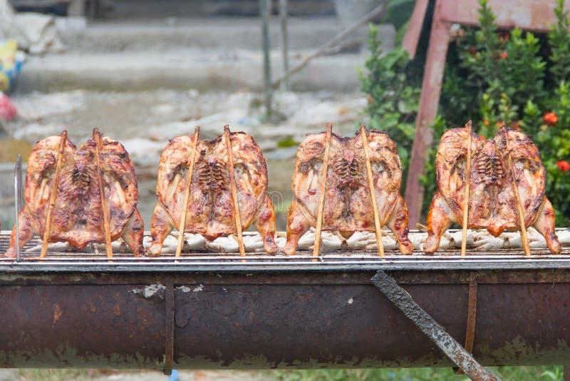 Coscia cotta del pollo fotografia stock libera da diritti