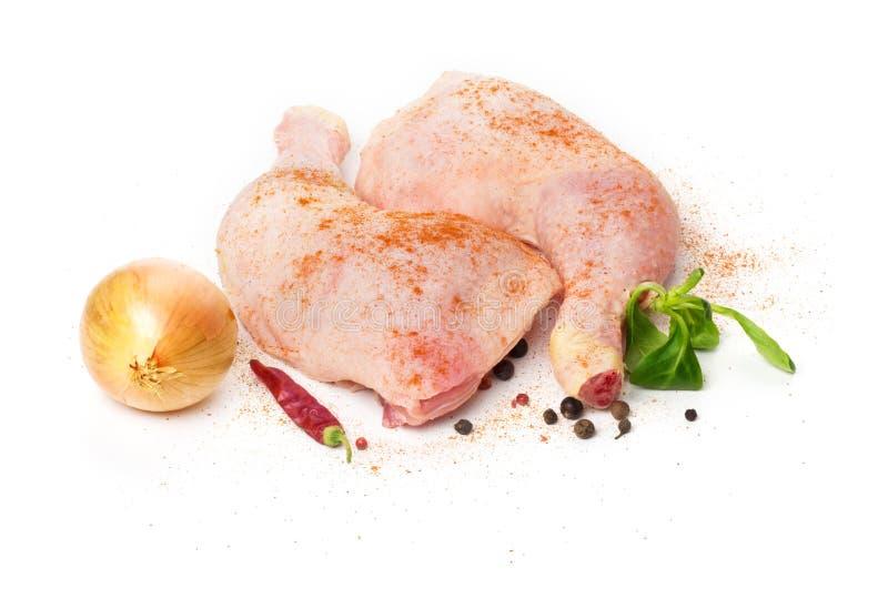 Coscia di pollo grezza fotografie stock libere da diritti