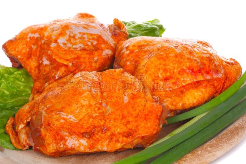 Coscia di pollo marinata fotografie stock libere da diritti